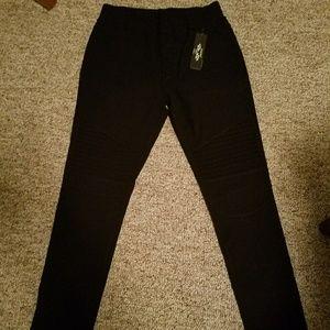 544de5cce434b indero Jeans | Super Stretch Moto Black Jeggings | Poshmark